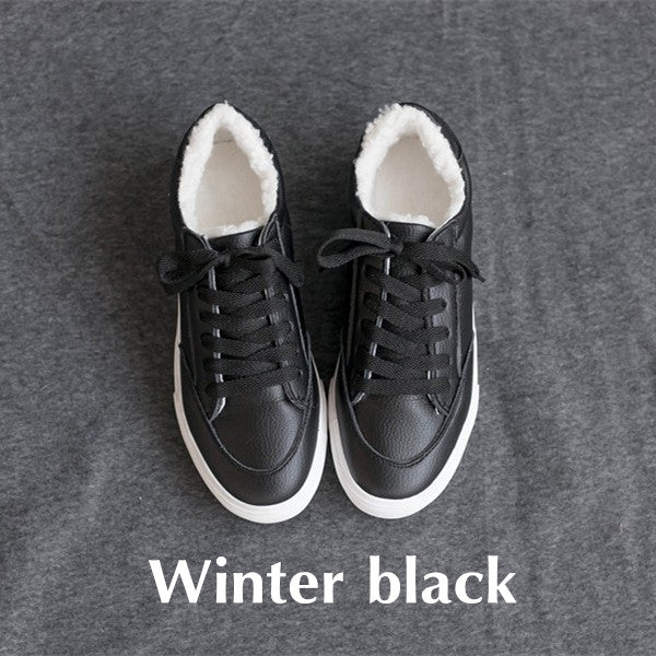 Spring Autumn Shoes Women Comfortably Lace-up Flats Shoes Casual Girls Student Winter Shoes