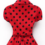 Summer Dress Polka Dot Big Swing Retro Casual Prom Rockabilly Party Pinup Vintage Dresses