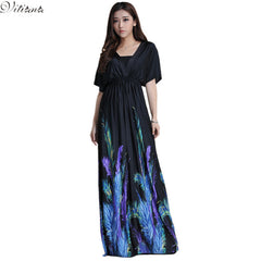 Women Summer Boho Beach Clothing Bohemian Print Maxi Long Dress Plus Size Vestidos