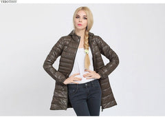 Plus Size Autumn Winter Coat Women Autumn Slim Warm Jackets Hood Middle Zip Long Sleeve Outerwear