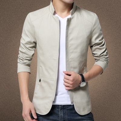 British Style  Jacket Coat Cotton Solid Casual Jacket Men n Windbreaker Coat Man