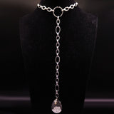 Stainless Steel Neckless  Silver Color Water Drop Necklaces Pendants Jewlery