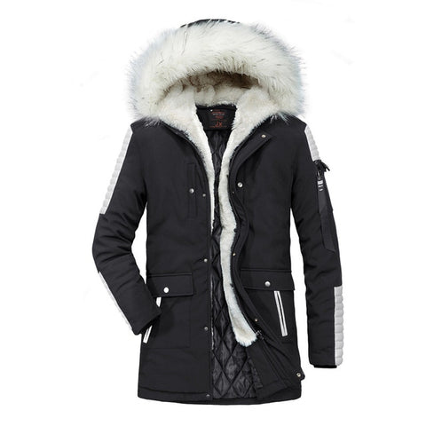 Winter Thick Cotton Padded Jacket Mens Coat