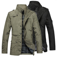 Men Jacket Coat Long  Trench Coat Men windbreaker Brand Casual Fit Overcoat Jacket Outerwear