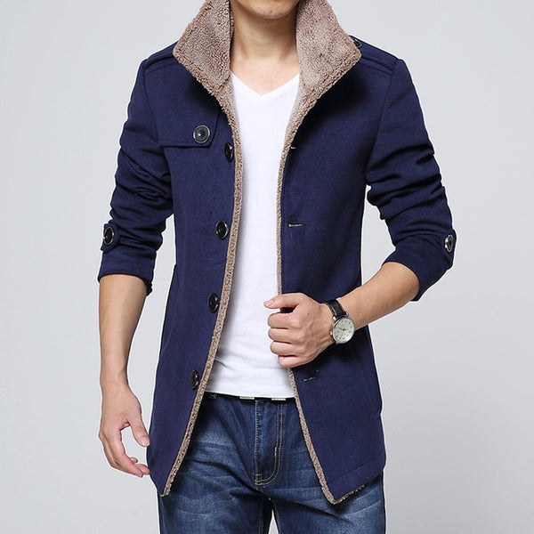 Men Long Wool Coat Winter Men Jackets Men Windbreaker High Quality Trench Coat Men