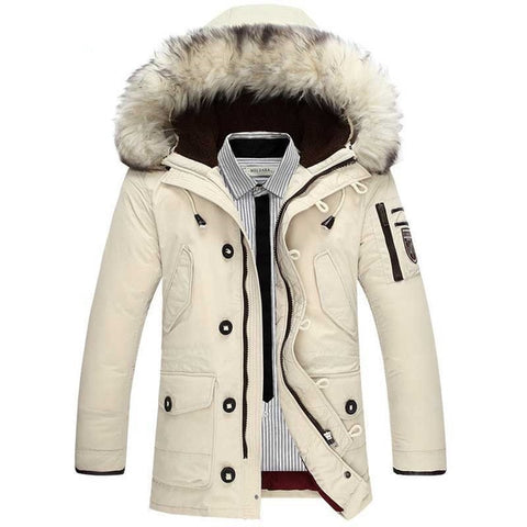 Winter Warm Long Thick Male Overcoat Windproof coat