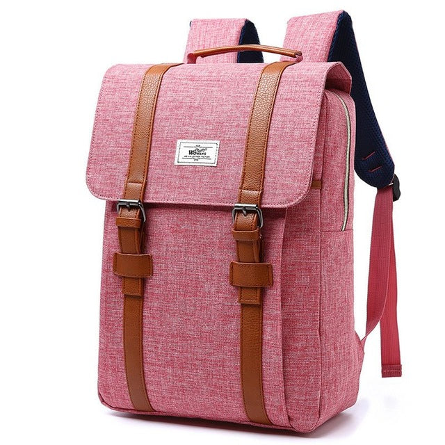 3ceef7b61ef9 Vintage Men Women Canvas Backpacks School Bags for Teenagers Boys Girl –  Fashion Flippes