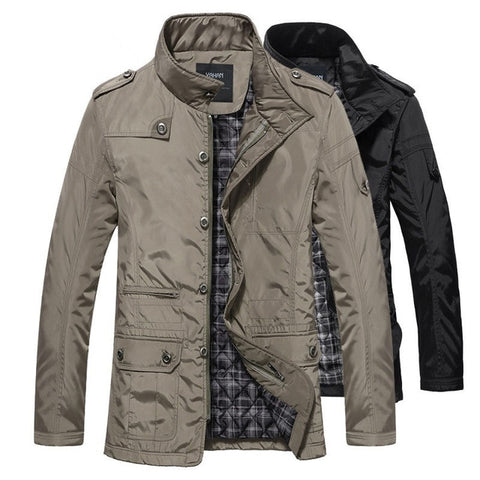 Winter Men Jackets and Coats Leisure Windproof Thick Warm Jacket Men's Long Trench Coat