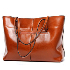 Women Hand Bags Luxury Genuine Leather Shoulder Bag Versatile Solid Large Capacity Casual Handbags