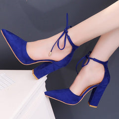 Summer Women Shoes Basic Retro High Heels Pointed Toe Office Career Shallow Footwear Pumps