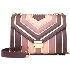 Spring Collision Candy Color Shoulder Bags Mini Small Messenger Crossbody PU Flap Chain Handbag