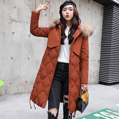 Fashion large Thickened Cotton Padded Coat Women's Hooded Coat