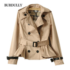 Autumn Winter Short Coats Jackets Slim Spring Double-breasted Outerwear Women Tops