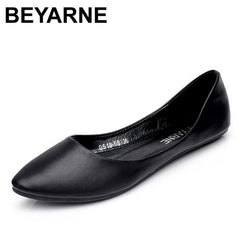 BEYARNE Spring Autumn Women Loafers Flat Heel Boat Casual Shoes
