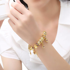 Snake Charm Bracelets Gold Color Charm Women Christmas Gift Jewelry