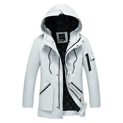 Slim Hooded Coats Warm Thick Cotton Male Down Jacket
