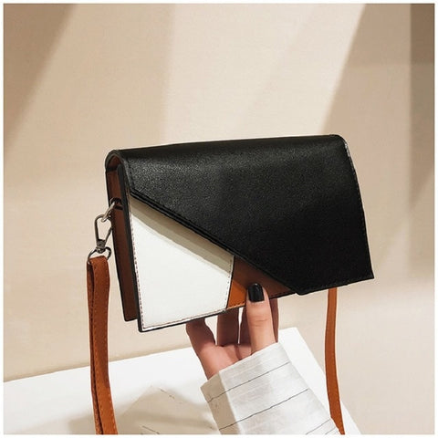 Women Korean Small Fragrance Wind Block Hit Color Small Square Bag Wind Trend Shoulder Slung
