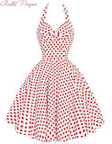 Women Summer Beach Dress Pin Up Retro Vintage 50s 60s Big Swing Polka Dot Rockabilly Dresses
