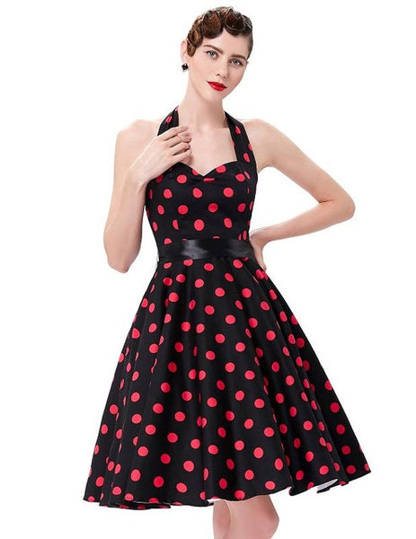 e447660f040b Belle Poque Summer Dresses Casual Polka Dot Vintage Swing Pinup Party – Fashion  Flippes