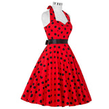 Belle Poque Summer Dresses Casual Polka Dot Vintage Swing Pinup Party Dress Plus Size