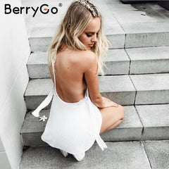 Backless Chiffon Jumpsuit Romper Ruffle Sleeveless Short Playsuit Summer Casual Overalls