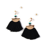 Lady Jewelry Wedding Big Long Earrings Vintage Tassel Statement Stud Women Earrings