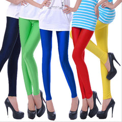 CUHAKCI Solid Candy Neon Woman Leggings High Stretched Plus Size Ballet Dancer Pants