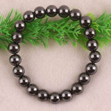 Charming 10mm Magnetic Hematite Round Beads Stretch Bracelet Bangle Jewelry