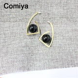 Gold Color Zinc Alloy Imitation Stones Women Dangle Earrings Boucle Drop Earring