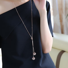 Long Snake Chain Necklace Famous Pendant Necklace Top Quality Cubic Zirconia Jewelry