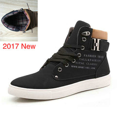 Men Shoes Warm Fur Winter Boots Autumn Leather Footwear High Top Canvas Casual Shoes