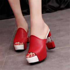 Women Sandals Heel Transparent Clear High Heels Summer Sandals Pumps Shoes
