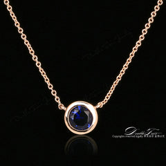 Double Fair Simple Cubic Zirconia Necklaces Pendants Rose Gold Jewelry Women Chain Accessories