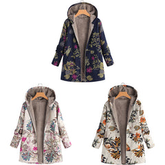 Oversize Hooded Coats Winter Jacket Womens Outwear coat