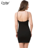 Eliacher Halter Off Shoulder Summer Dress Women Hollow Out Party Black Beach Dresses
