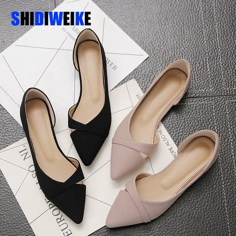 Casual Flat Women Summer Breathable Comfortable Soft-soled Pointed Toe Shallow Flat Shoes