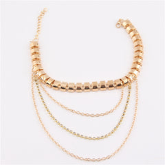 Foot Jewelry Gold Anklet Bracelet Chain Draped Layered Heel Crystal Anklets
