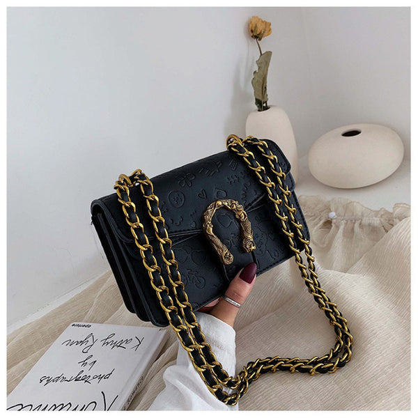 Vintage Serpentine Crossbody Bags Sling Shoulder Messenger Bag Luxury Handbags Designer