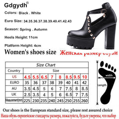 Spring Buckle Casual Shoes Women High Heels Rivets Platform Russian Ladies Shoes Crystal