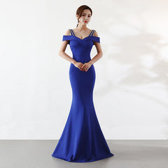 Wine Red Diamonds Spaghetti Strap Off Shoulder Long Mermaid Dress Wedding Cocktail Club Dresses