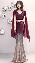 Vestidos Longo Dress Plus Size Long Sequins Dinner Host Pearl Fillet Fishtail Dresses