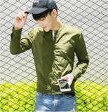 Helisopus Men Summer Thin Jacket Male Slim Ultra Thin Breathable Jacket Man Street Bomber Jacket