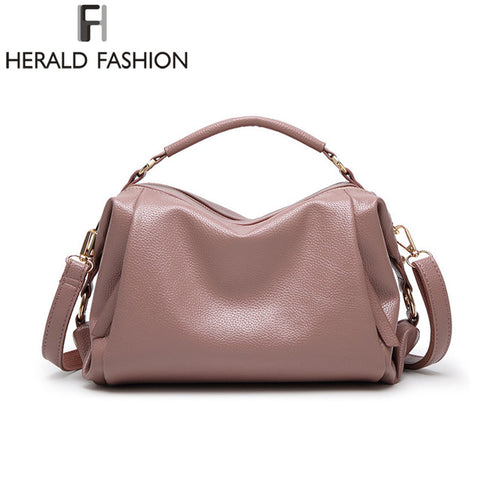 High Quality PU Leather Women Handbags Casual Shoulder Bags Solid Tote Lady Crossbody Bags