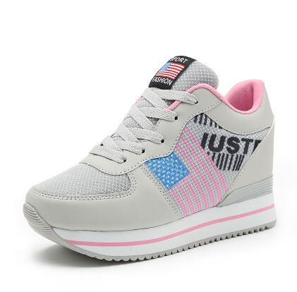 High Heels Shoes Women Casual Tennis Basket Platform Valentine Shoes Wedge Harajuku