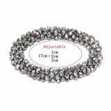 Crystal Resilience Women Bracelet Christmas Gifts Handmade Artificial Simple Adjustable Crystal Bracelet