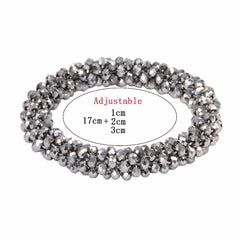 Women Bracelet Christmas Handmade Artificial Simple Adjustable Crystal Bracelet