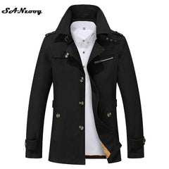 Thick Thin Two Style Men Jacket Coats Long Overcoat Cotton Jackets Mens Outerwear Parka