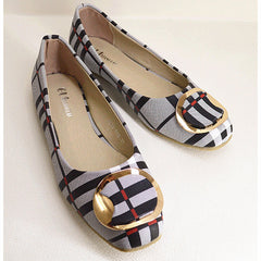 Korean Spring Women Flats Shoes Ladies Bow Square Toe Slip-On Flat Shoes