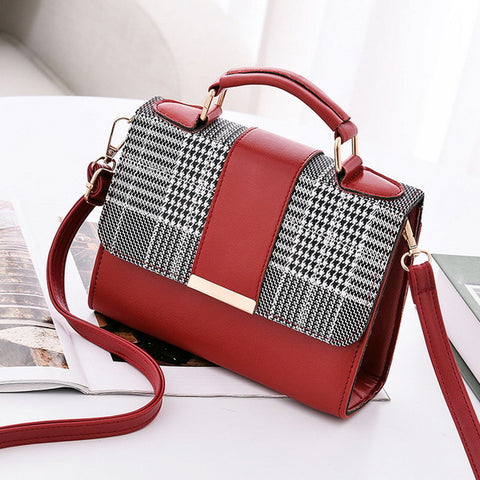 Women PU Leather Shoulder Small Flap Crossbody Handbags Top Handle Tote Messenger Bags