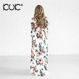 Kuk Color Long Dress Floral Summer Maxi Dress Plus Size Bohemian Dress Chic Beach Tunic